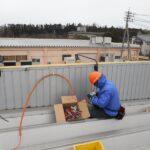 電気配線工事中