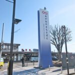 JR駅前の大きな広告塔