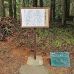 寺社仏閣の縁起を開設した看板